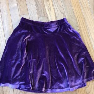 Purple Velvet Skirt